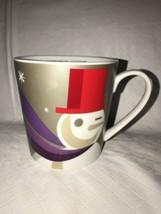 "Starbucks 2011 Snowman ""When We're Together"" Mug 16 fl oz Purple Silver Cup EUC - $16.82"