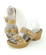 DANSKO Sandals 9 Jessie Sand Brown Lizard Strap Slide 39 EU Women Clog - $32.42