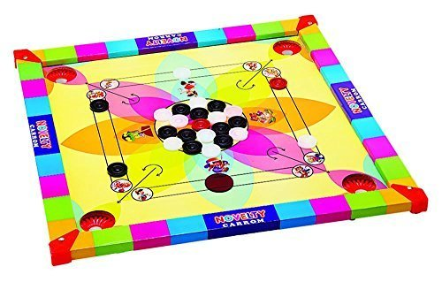 Ally Sports Top Grade Kids Carrom Wooden Board Game With acrylic Coins And Strik