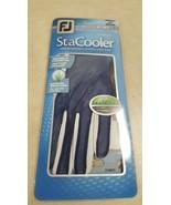 FootJoy FJ StaCooler Women's Golf Glove, Left Hand, Medium, Pearl/Navy - $14.20