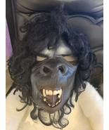 Gorilla King Kong Ape Head Mask Latex Adult Black Monkey Ape Growling Ha... - £16.22 GBP