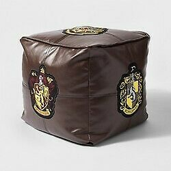 "Harry Potter Hogwarts Floor Pillow Brown 13"" x 13"" x 13""  new with tags STORE"
