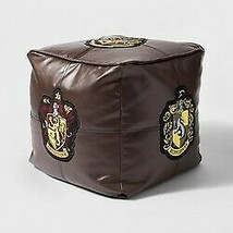 "Harry Potter Hogwarts Floor Pillow Brown 13"" x 13"" x 13""  new with tags STORE image 1"