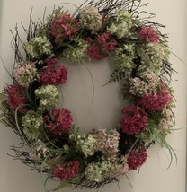 "Rite Aid Easter 18"" Multi Color Floral Wreath Home Decor Flower Ring - $19.99"