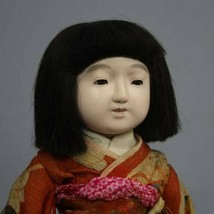 Ichimatsu Doll Antique Japan Showa Early Buddha Used girls dolls - $690.99