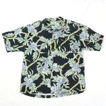 Tommy Bahama Silk Camp Men's Large Hawaiian VINTAGE Relaxed Aloha Short Sleeve - $21.11