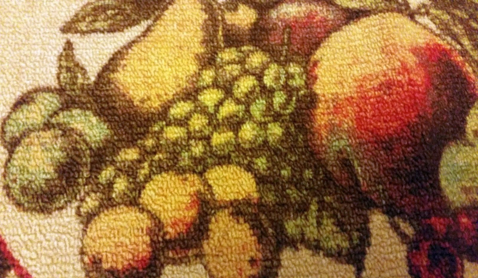 "NYLON PRINTED KITCHEN RUG/MAT (nonskid) (20"" x 30"") FRUITS, MOHAWK"