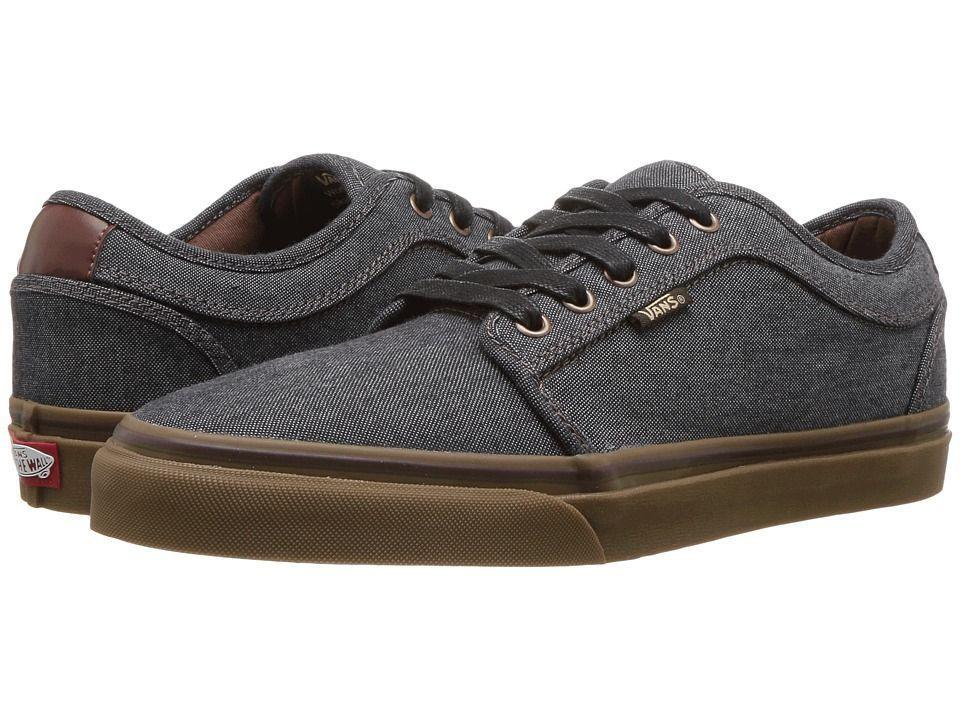 VANS Chukka Low (Oxford) Black/Gum UltraCush Skate Shoes MEN'S 7.5 WOMEN'S 9
