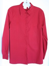 MOTHERHOOD MATERNITY Beautiful Brick Red Dress Shirt EUC Size Small - $9.89