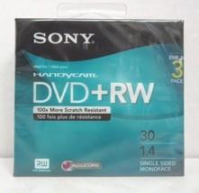 Sony Handycam Mini DVD+RW 3 Pack 30min 1.4GB Discs 3DPW30R2HC - $10.88