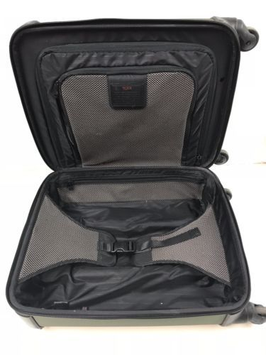 """Tumi Alpha Continental 20"""" Green Nylon Spinner Luggage Suitcase Bag 28521SPH"""