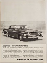 1961 Print Ad The 1962 Dodge Dart 440 Action Economy 4-Door Car - $13.35