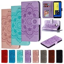 For Samsung Galaxy J4/J6 2018/J2 Pro Wallet Phone Case Flip Leather Flower Cover - $46.24