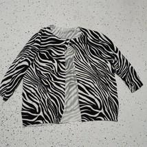 White Stag Women's Cardigan Knit Sweater Blouse ~ Sz XXL ~ Burgundy ~Lon... - $14.84