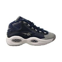"Reebok Question Mid ""Georgetown"" Big Kids' Shoes Carbon-Faux Indigo-Whit... - $70.00"