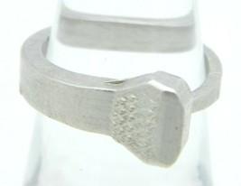 VTG Silver Tone Metal Nail Ring Size 6.5 - $19.80