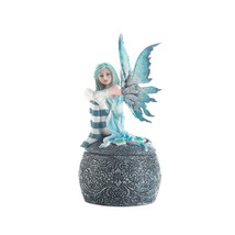 Fairy Figurines And Statues, Blue Baby Miniature Fairy Collection Figurines - $28.93