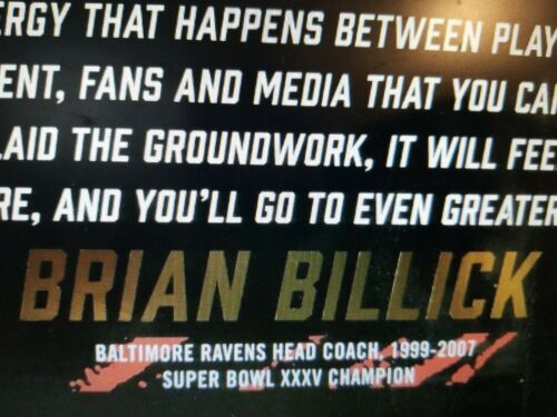 Brian Billick Ring of Honor Induction Poster Baltimore Ravens September 29, 2019 image 2