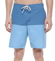 BRAND NEW LACOSTE MEN'S PREMIUM TWO TONE SWIM TRUNKS BOARD SHORTS ADMIRAL BLUE