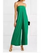$1495 Cedric Charlier Strapless Origami Silk Jumpsuit Sz 4 Stunning! Gorgeous! - $470.25