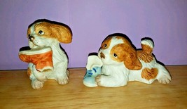 Playful Pups Chewing on Shoes, HOMCO Figuines #1405 - $15.83