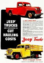 1948 Willys - Overland - Jeep Trucks - Promotional Advertising Poster - $9.99+