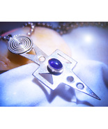 HAUNTED ENERGIZING NECKLACE TOUCH TO SEND POWER TO GOAL MAGICK 925 7 SCH... - $87,007.77