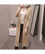 Womens Cashmere Long Cardigans Autumn Winter High Quality Female Solid S... - $45.40