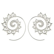 Bracet Spiral Hoop Earrings Stud Bohemian Vintage Tribal Swirl Style Adj... - $8.54