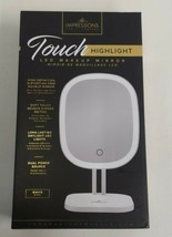 Impressions Vanity Company Touch Highlight LED Makeup Mirror White Dual ... - $19.75