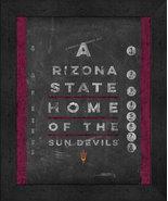 """Arizona State Sun Devils 13x16 College """"Chalkboard Look Eye Chart"""" Frame... - $39.95"""