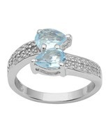925 Sterling Silver Jewelry Sky Blue Gemstone Sterling Silver Ring Sz 7 ... - $33.12 CAD