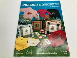Jeanette Crews Designs Cross Stitch Booklet Dragons & Dinosaurs 1987 #67 - $4.11