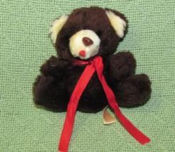"VINTAGE ANIMAL FAIR TEDDY BEAR 3.5"" MINI PLUSH STUFFED ANIMAL TAIWAN BRO... - $13.61"