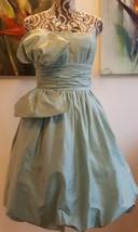 $3.3K Nwt New Oscar De La Renta Stunning Sea Blue Silk Bow Dress Runway Size 6/8 - $1,195.00