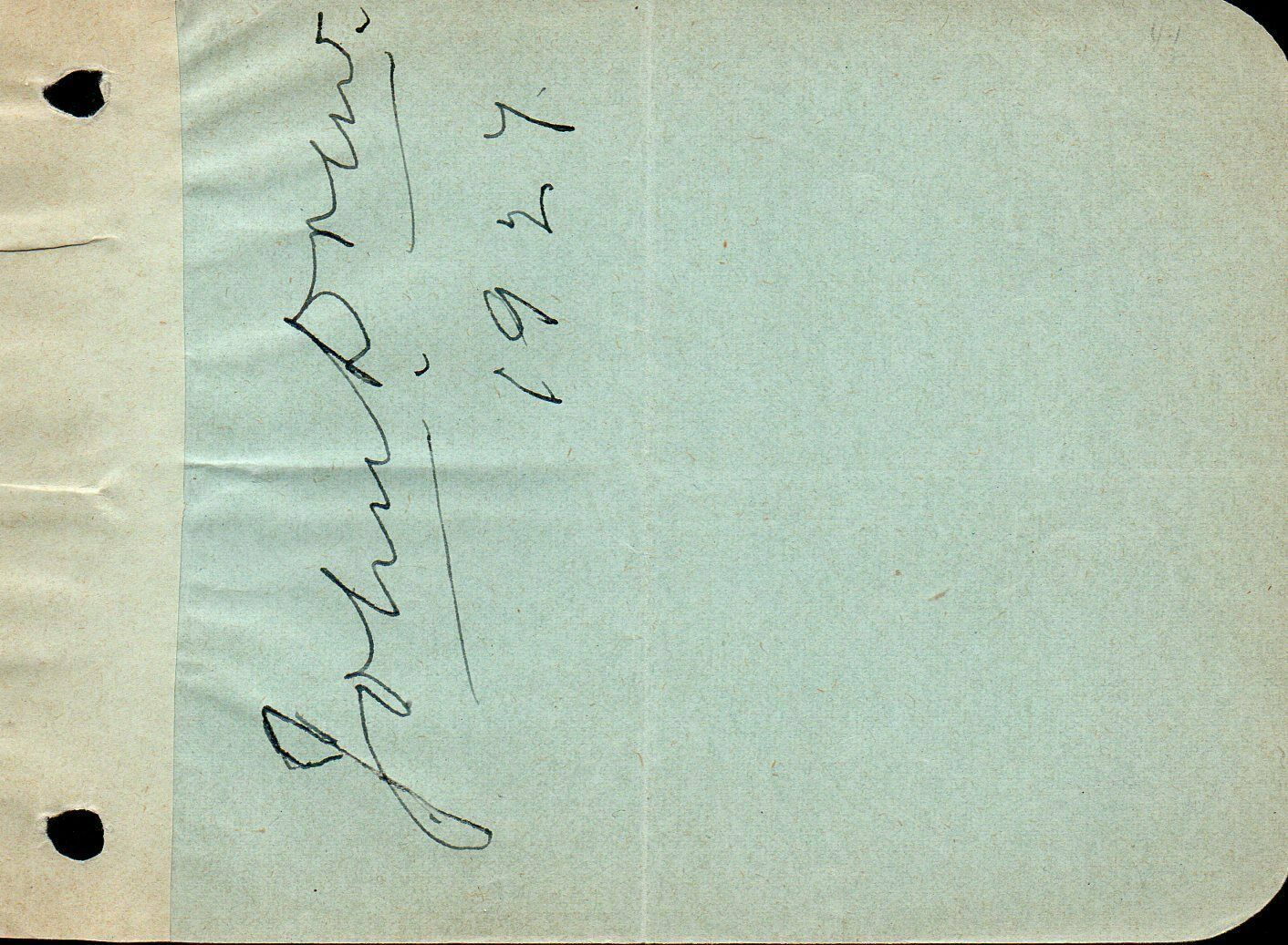 JOHN DREW (JR) Autograph. Nicely signed on album page. Barrymore uncle.