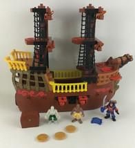 Fisher Price Imaginext Adventures Pirate Ship Boat w Figures L1284 Retir... - $89.05