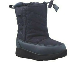 Toddler Bouys Cat & Jack Navy Blue Himani Winter Snow Boots 12