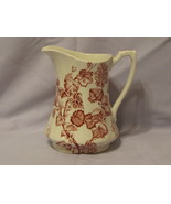 Alfred Meakin Red Florette Pitcher England - $12.95