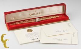 Omega Ω 18K or jaune et Diamant remontage Watch W / BOITE ORIGINALE & PA... - $2,762.09