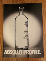 Absolut Profile Original Magazine Ad - $2.99