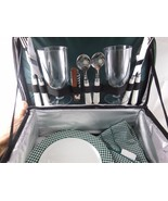 NWOT Harry & David 14 piece Picnic Set 2 complete settings w Insulated case - $24.25
