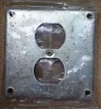 4in Square Receptacle Cover Steel Get Charged - $5.91