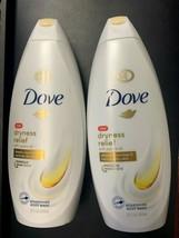 2x Dove Dryness Relief W/ Jojoba Oil Body Wash  22 fl oz  650 ml Each - $19.99