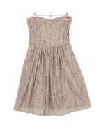 Eva Mendes Womens Dress Strapless Fit and Flare Beige Floral Lace Size 6 - $69.05