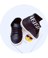 New Baby Walking Shoes Black Leather Infant Soft Bottom Toddler Shoes T0... - $16.99