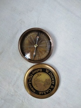 Hindon collectibles Brass Compass Maritime Compass Campaigning Brass Nau... - $39.39
