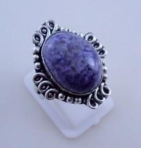 Ring Size 8 Sodalite Silver Overlay Handmade Ring Jewelry 8 Gr. Oj-337-46 - $2.49