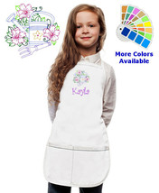 Personalized Kids Gardening Apron Monogrammed for little Boy and Girl Gift - $20.98