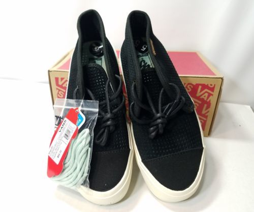 VANS WOMEN'S RHEA SF SQUARE PERF BLACK MINT GREEN SIZE US 5 VN00019RIUZ MSRP $66
